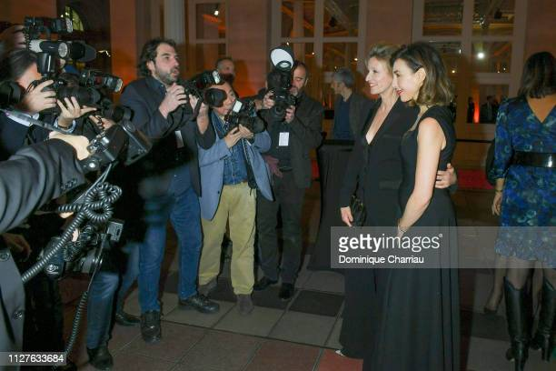 Alexandra Lamy and Elsa Zilberstein attend the 26th 'Trophees Du Film Francais' Photocall at Palais Brongniart on February 05 2019 in Paris France