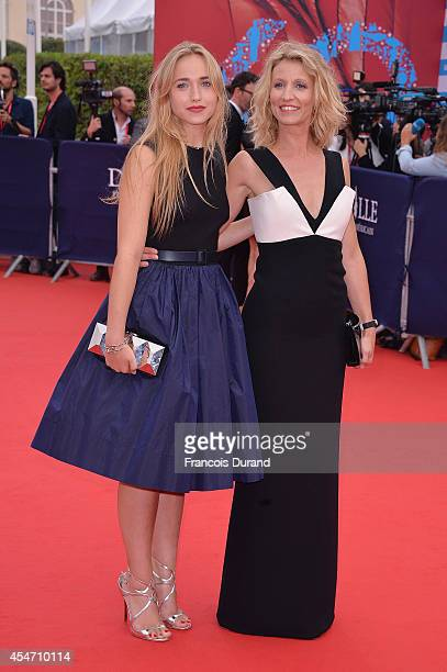 Alexandra Lamy and her daughter Chloe Jouannet arrive at the opening ceremony of 40th Deauville American Film Festival on September 5 2014 in...
