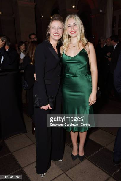 Alexandra Lamy and her daughter Chloe Jouannet attend the 26th 'Trophees Du Film Francais' Photocall at Palais Brongniart on February 05 2019 in...