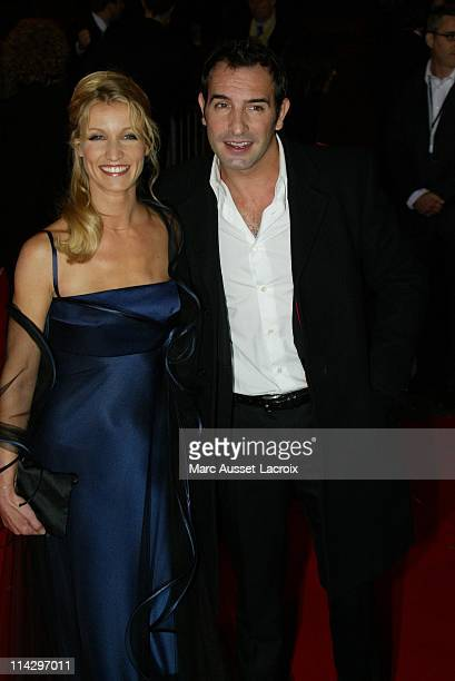 Alexandra Lamy and Jean Dujardin during 32nd Cesar Awards Ceremony Arrivals at Theatre du Chatelet in Paris France