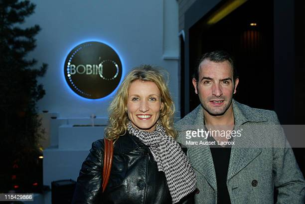 Alexandra Lamy and Jean Dujardin during Unveiling of the New Theatre Bobino in Paris at Theatre Bobino in Paris France