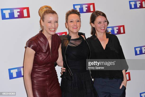 Alexandra Lamy Audrey Lamy and Anne Marivin attend the 'Ce Soir Je Vais Tuer L'Assassin De Mon Fils' Paris Premiere at Cinema Elysee Biarritz on...