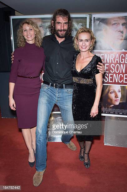 Alexandra Lamy Augustin Legrand and Sandrine Bonnnaire attend the 'J'enrage de Son Absence' Premiere at UGC Cine Cite des Halles on October 25 2012...