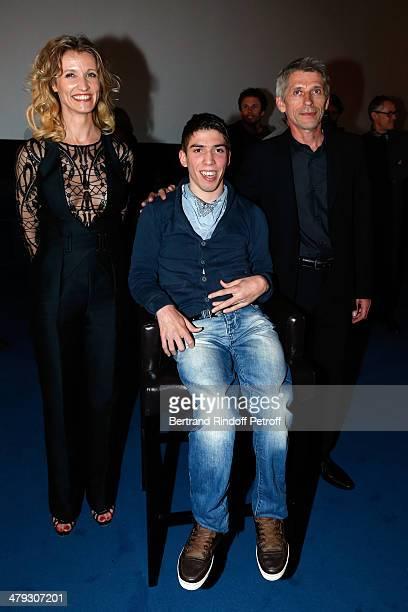 Alexandra Lamy Fabien Heraud and Jacques Gamblin attend the 'De Toutes Nos Forces' Paris premiere at Gaumont Capucines on March 17 2014 in Paris...