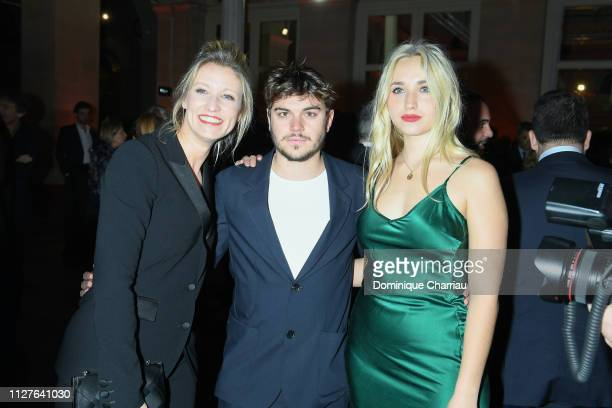 Alexandra Lamy guest and Chloe Jouannet attend the 26th 'Trophees Du Film Francais' Photocall at Palais Brongniart on February 05 2019 in Paris France