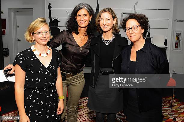 Alexandra Lange Galia Solomonoff Marion Weiss and Claire Weisz pose at the New York Magazine And Dwell Women In Design Panel Discussion on October 3...
