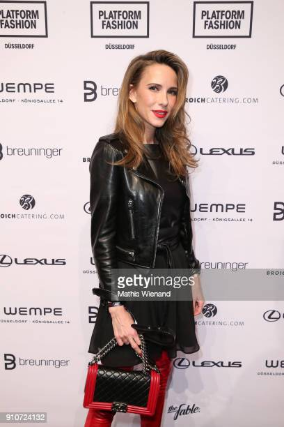 Alexandra Lapp attends the Breuninger show during Platform Fashion January 2018 at Areal Boehler on January 26 2018 in Duesseldorf Germany