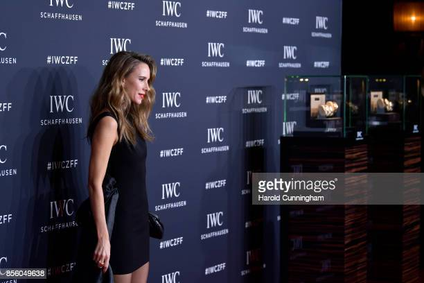 Alexandra Lapp attends the IWC 'For the Love of Cinema' Gala Dinner at AURA Zurich on 30 September 2017 in Zurich Switzerland During the event actor...