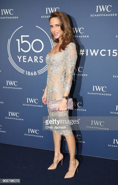 Alexandra Lapp attends the IWC Schaffhausen Gala celebrating the Maison's 150th anniversary and the launch of its Jubilee Collection at the Salon...