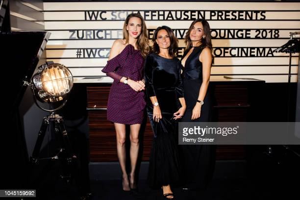 Alexandra Lapp, Beatrice Lessi and Geri Preses at the IWC lounge for the 'Red Joan' premiere during the 14th Zurich Film Festival on October 3, 2018...