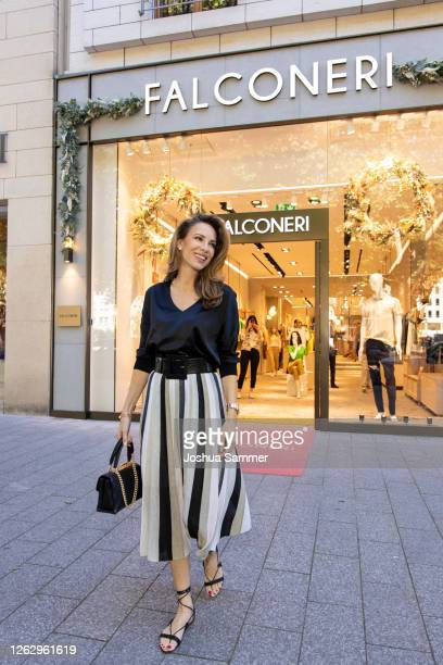 Alexandra Lapp is seen during the Falconeri store opening on July 31, 2020 in Dusseldorf, Germany.