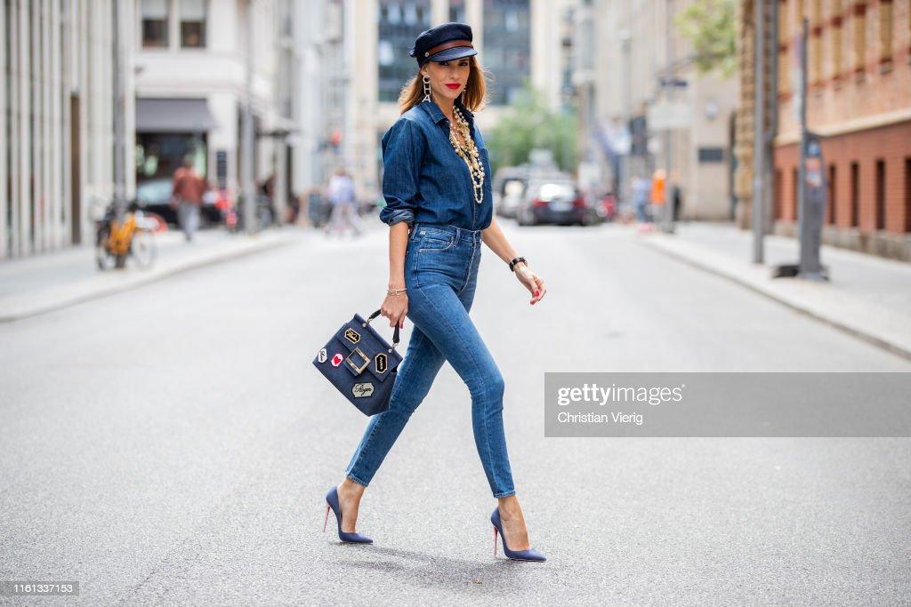 Street Style - Berlin Fashion Week - July 2, 2019 : ニュース写真
