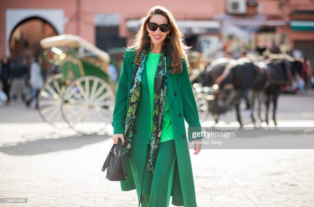 Street Style - Marrakech - November 26, 2018 : News Photo