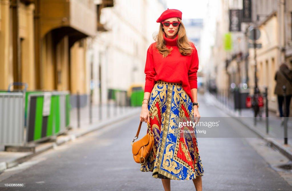 Street Style : Paris Fashion Week Womenswear Spring/Summer 2019 : Day Six : Foto di attualità