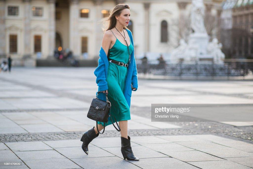 Street Style - Berlin Fashion Week Autumn/Winter 2019 : Photo d'actualité