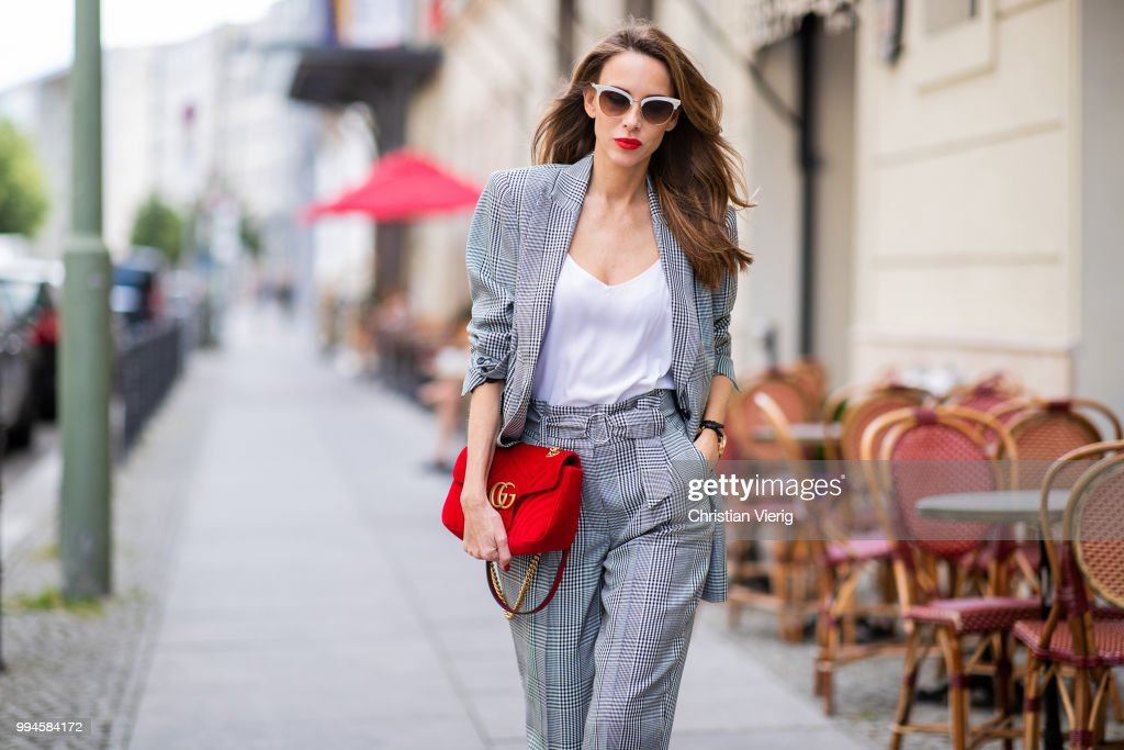 Street Style - Berlin Fashion Week Spring/Summer 2019 - July 6, 2018 : News Photo