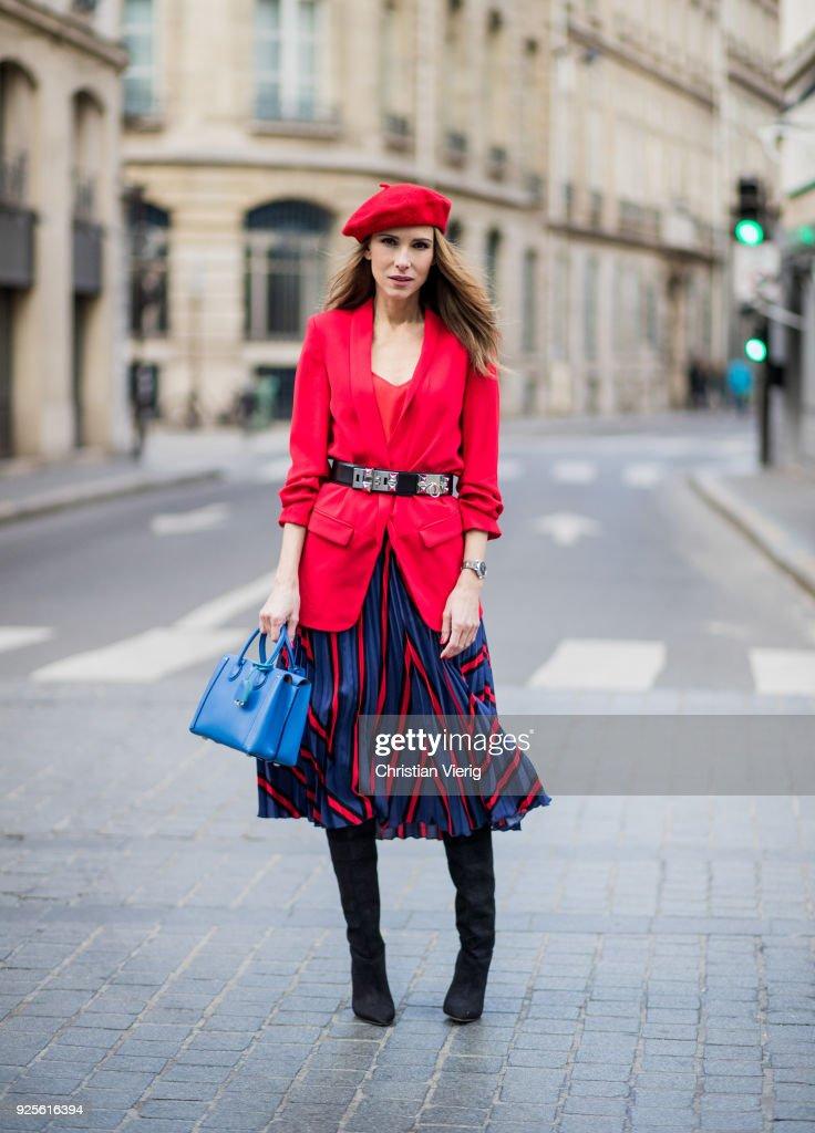 A B0wqqazx Alexandra Top Silk From Blazer Red Long Zara Wearing Lapp zMVSpU