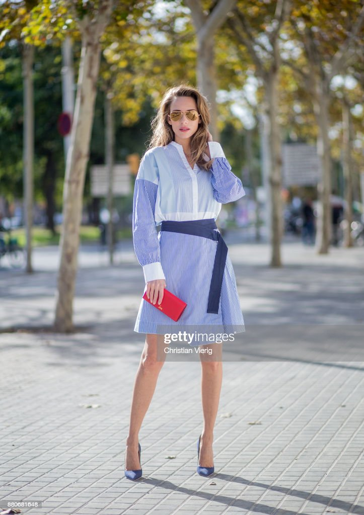 Street Style In Barcelona : News Photo