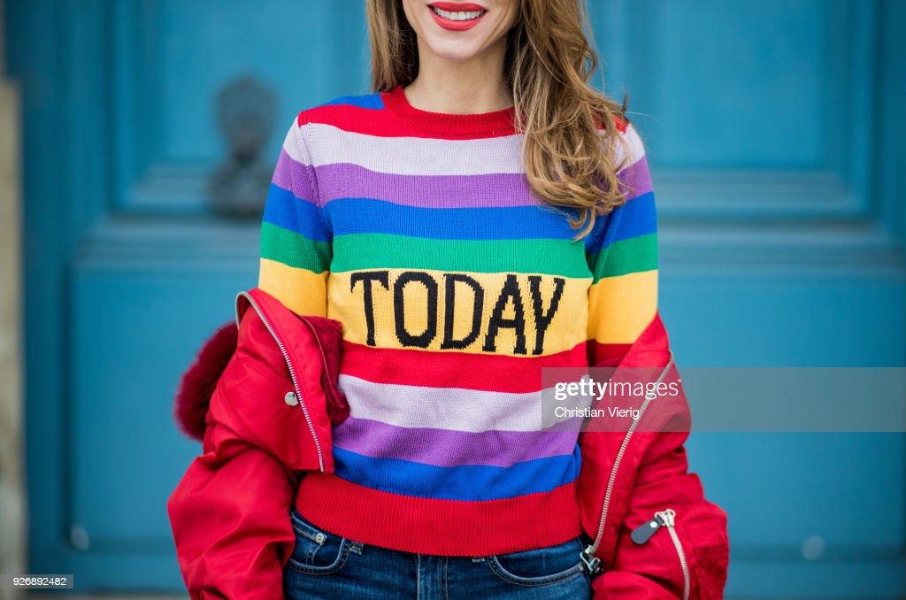 nuovo stile 152dd fdec4 Alexandra Lapp wearing Pullover Alberta Ferretti with today ...