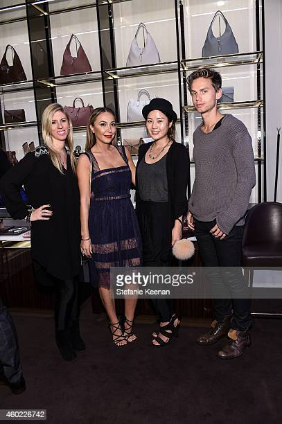 Alexandra Lasky Diana Madison Christine Kim and Alex Sagalchik attend Gucci Hosts Private Cocktail Party To Benefit GLSEN at Gucci Los Angeles on...