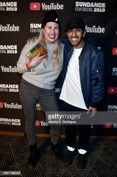 Alexandra Lazarowich and Reed Alsemari attend the Shorts Program Awards And Party during the 2019 Sundance Film Festival at Utah Film Studios on...
