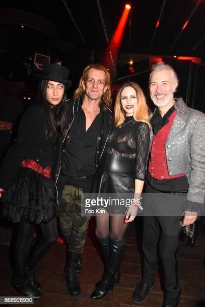 Alexandra Lebrand Ale de Basseville Egla Harxhi and Bal des Vampires organizer Dan Marie Rouyer attend the Bal des Vampires 2017 at Pavillon Champs...