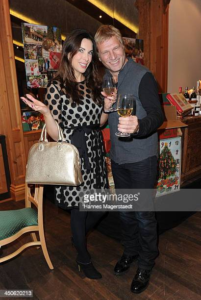 Alexandra Leinauer and Gerhard Leinauer attend the Tuscan Wine Festival at Gruenwalder Einkehr on November 19 2013 in Munich Germany