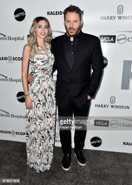 Alexandra Lenas and honoree Sean Parker attend UCLA Mattel Children's Hospital's Kaleidoscope 5 at 3LABS on May 6 2017 in Culver City California