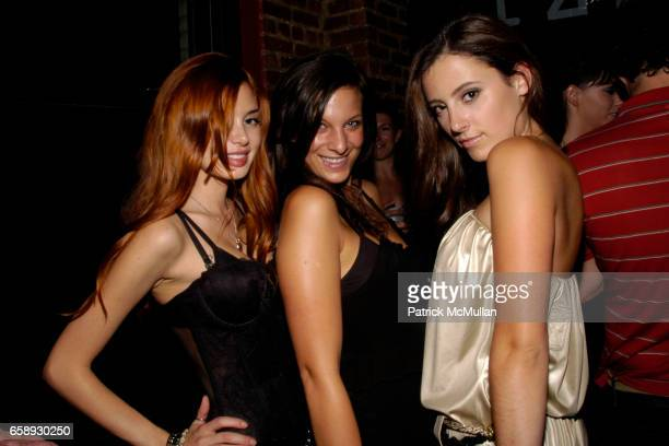 Alexandra Lenas Kristina D'Amico and Bianca Rushton attend IZZY GOLD'S PAJAMA PARTY With ED HARDY VODKA at Izzy Gold Studio on August 14 2009 in New...