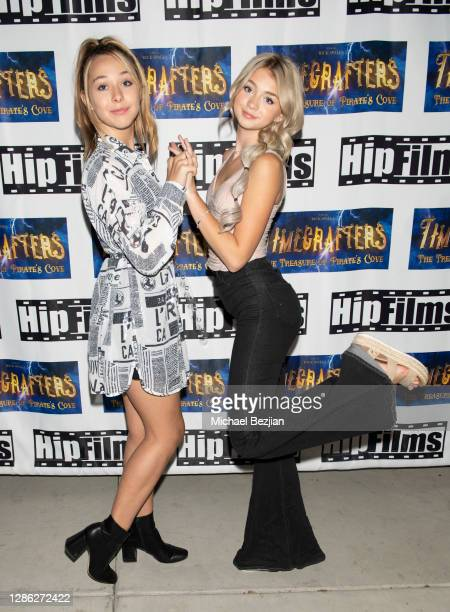Alexandra Leona Bryant and Sicily Rose arrive at The Artists Project Hosts Portraits For The Premiere of Timecrafters on November 17 2020 in Los...
