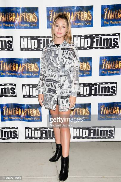 Alexandra Leona Bryant arrives at The Artists Project Hosts Portraits For The Premiere of Timecrafters on November 17 2020 in Los Angeles California