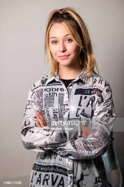 Alexandra Leona Bryant poses for portrait at The Artists Project Hosts Portraits For The Premiere of Timecrafters on November 17 2020 in Los Angeles...