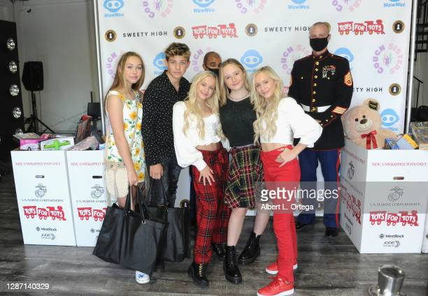 Alexandra Leona Bryant, Walker Bryant, Kameron Couch, Mackenzie Couch and Katie Couch at the 2nd Annual Toys For Tots Toy Drive held at The Industry...