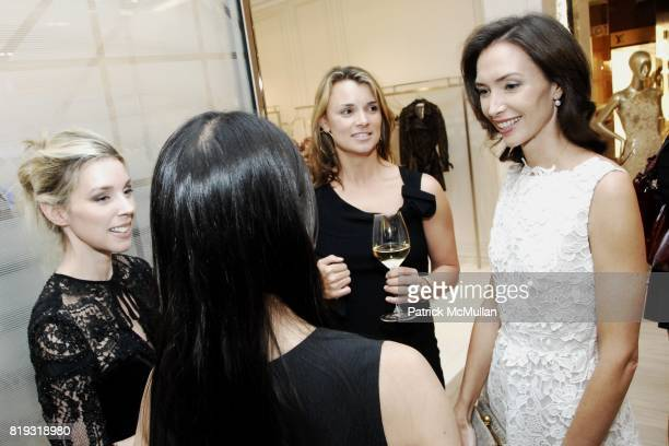 Alexandra Lind Rose Allison Aston and Olivia Chantecaille attend SAKS FIFTH AVENUE VALENTINO Host a Dinner to benefit SAVE VENICE at Saks Fifth...