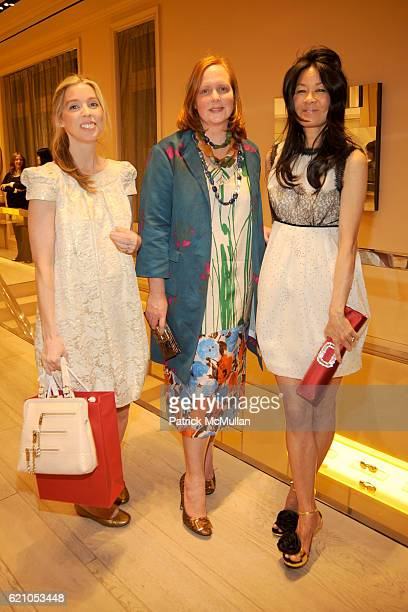 Alexandra Lind Rose Anne Grauso and Helen Lee Schifter attend ROGER VIVIER shopping and champagne party hosted by INES DE LA FRESSANGE and The Senior...
