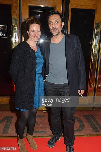 Alexandra London and Olivier Sitruk attend 'Mugler Follies' 100th Edition at Le Comedia on May 26 2014 in Paris France