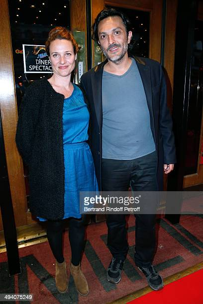 Alexandra London and Olivier Sitruk attend the 'Mugler Follies' 100th Edition at Le Comedia in Paris on May 26 2014 in Paris France