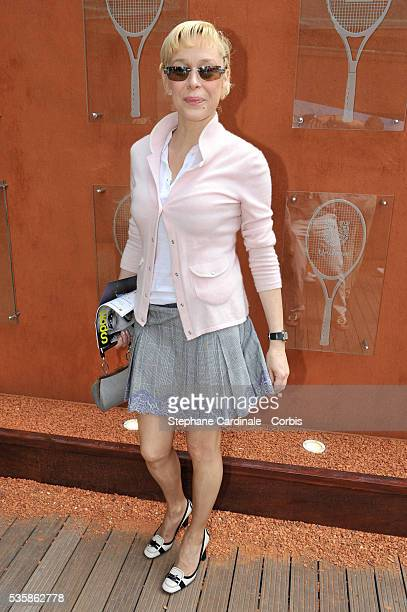 Alexandra Lorska at Roland Garros Village in Paris