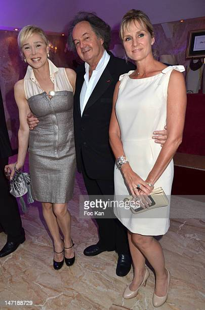 Alexandra Lorska Gonzague St Bris and Edith Rebillon attend the Chateau de Saint Cloud Gala Auction Dinner at the Salons Hoche on June 26 2012 in...