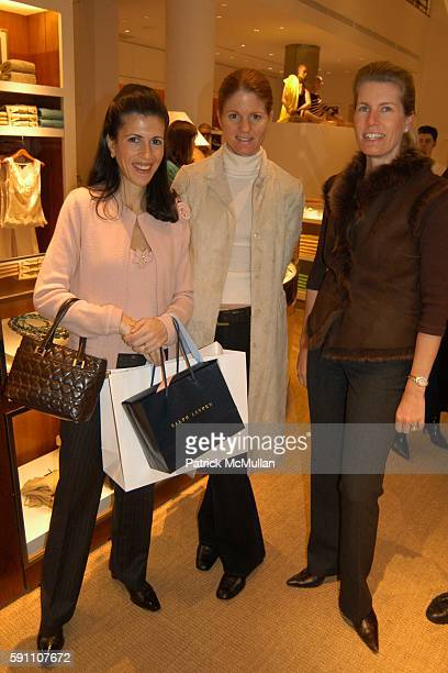 Alexandra Mandis Mary Darling and Maria Villalba attend Bunny Hop Kickoff Breakfast at Ralph Lauren 888 Madison Avenue on February 24 2005 in New...