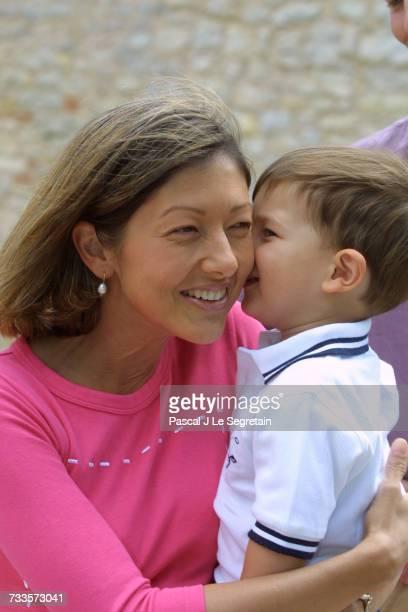 Alexandra Manley and her son Prince Nikolai of Denmark