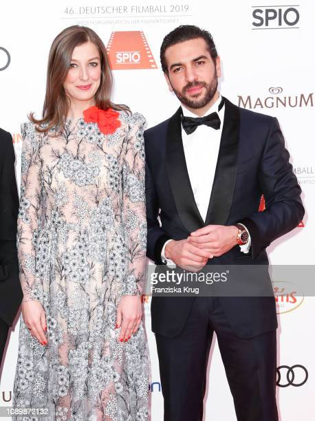 Alexandra Maria Lara and Elyas M'Barek during the 46th German Film Ball at Hotel Bayerischer Hof on January 26 2019 in Munich Germany
