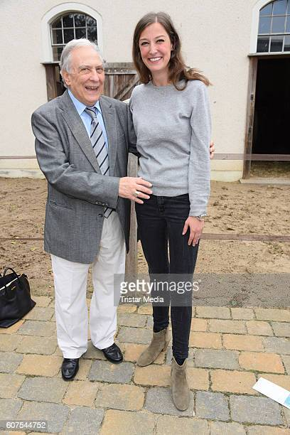 Alexandra Maria Lara and her father Valentin Platareanu attend the 'Talk About Homeland' during the international Film ohne Grenzen festival on...