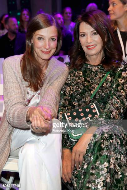 Alexandra Maria Lara and Iris Berben attend the Marc Cain Fashion Show Spring/Summer 2018 at ewerk on July 4 2017 in Berlin Germany