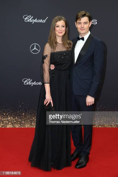Alexandra Maria Lara and Sam Riley attend the 71st Bambi Awards at Festspielhaus BadenBaden on November 21 2019 in BadenBaden Germany