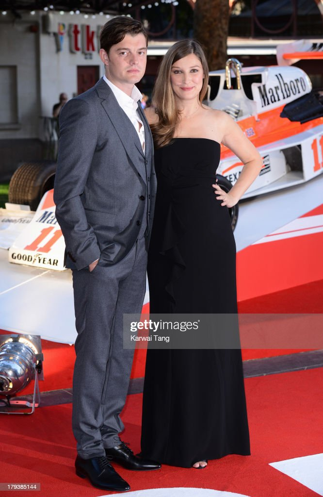 Alexandra Maria Lara and Sam Riley attend the World Premiere of 'Rush' at the Odeon Leicester Square on September 2, 2013 in London, England.