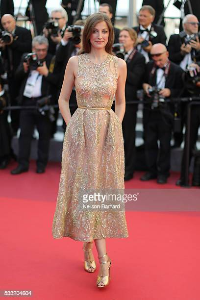 Alexandra Maria Lara attends the 'Elle' Premiere during the 69th annual Cannes Film Festival at the Palais des Festivals on May 21 2016 in Cannes...