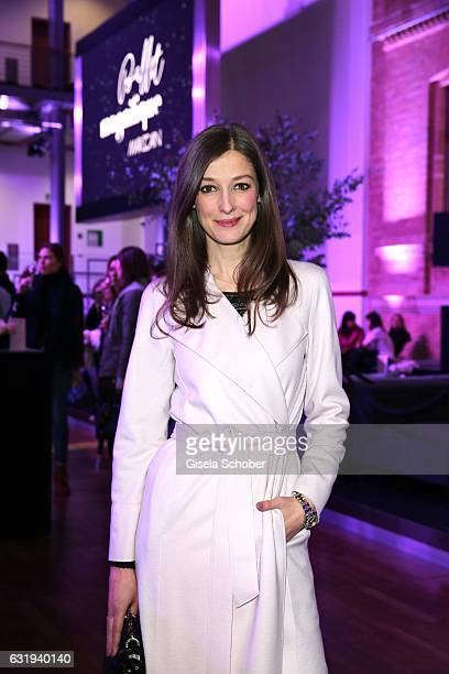 Alexandra Maria Lara wearing a outfit by Marc Cain during the Marc Cain fashion show fall/winter 2017 'Ballet magnifique' at 'Telekom Representation'...
