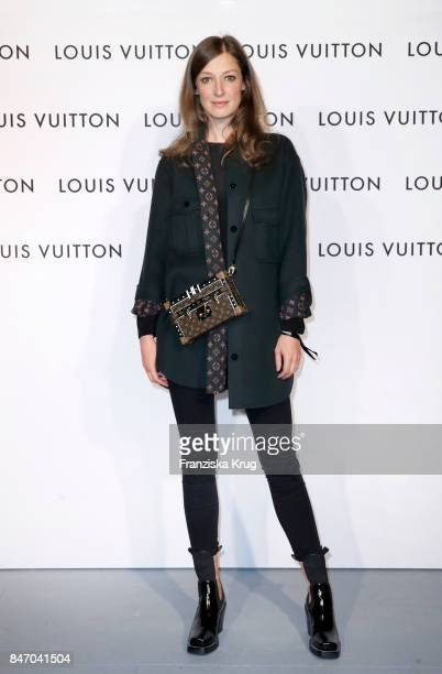 Alexandra Maria Lara wearing Louis Vuitton attends the 'Louis Vuitton Time Capsule' Exhibition Opening at Franzoesisches Palais on September 14 2017...