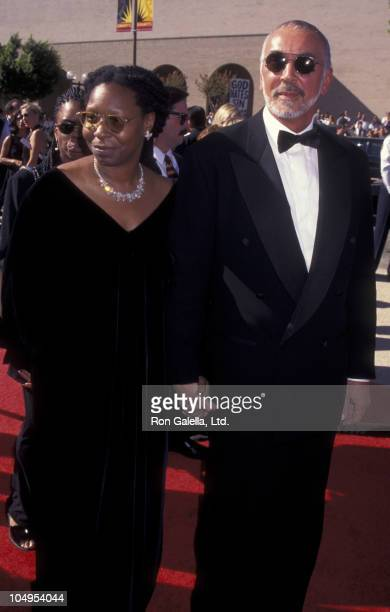 Alexandra Martin actress Whoopi Goldberg and Frank Langella attend the 48th Annual Primetime Emmy Awards on September 8 1996 at the Pasadena Civic...